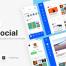 50多个带暗黑模式的现代社交仪表盘UI工具包优质设计素材下载(提供Adobe XD格式源文件)