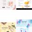 64款电商服装箱包美妆广告宣传杂志详情产品简介排版PSD分层模板