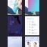 7套UI设计面试作业作品扁平手机APP交互界面PS模板PSD分层源文件素材第二季