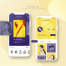 17款电商音乐旅游移动手机APP应用程序产品启动页宣传海报psd素材模板