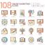 108新鲜和独特的在线营销图标优质设计素材下载
