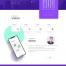 12款简约卡片式网页网站企业公司界面页面设计PSD模板设计素材UI
