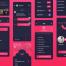 60多个带暗黑模式风格聊天交友约会应用UI工具包优质设计素材下载(提供Adobe XD格式源文件)