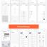 多用途APP应用原型线框套件优质设计素材下载(提供Adobe XD和sketch格式源文件)