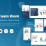 6个扁平化风格团队合启动页引导页插图优质设计素材下载