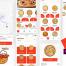 20多个高品质的比萨预定外卖UI套件优质设计素材下载(提供Adobe XD格式源文件)