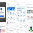 30个蓝色系的医院医疗管理应用界面设计素材下载